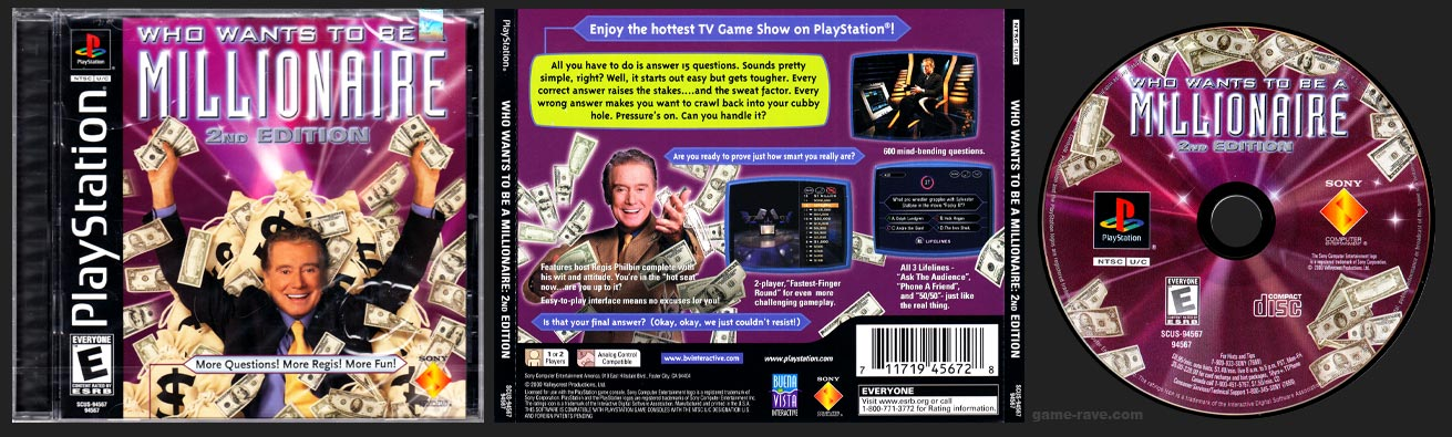 PSX PlayStation Who Wants to Be a Millionaire 2nd Edition No Sweepstakes