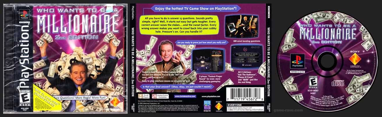PSX PlayStation Who Wants to Be a Millionaire: 2nd Edition