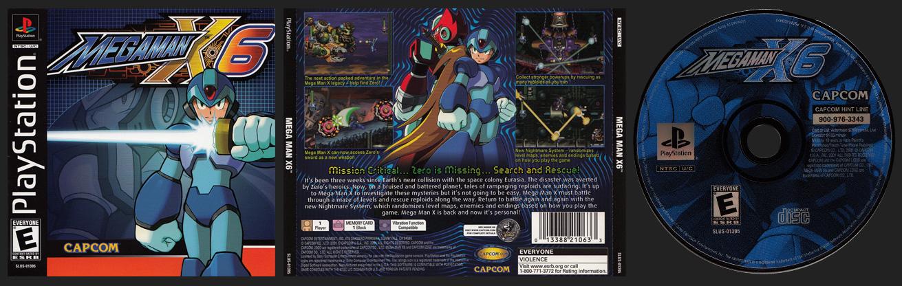 PSX PlayStation Mega Man X6 Black Label Retail Release