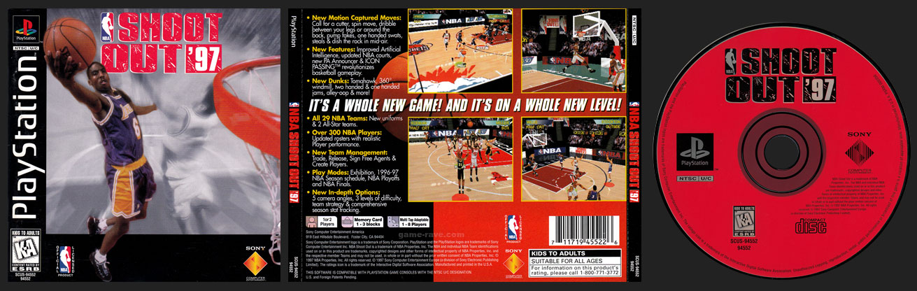 PSX PlayStation NBA Shoot Out '97