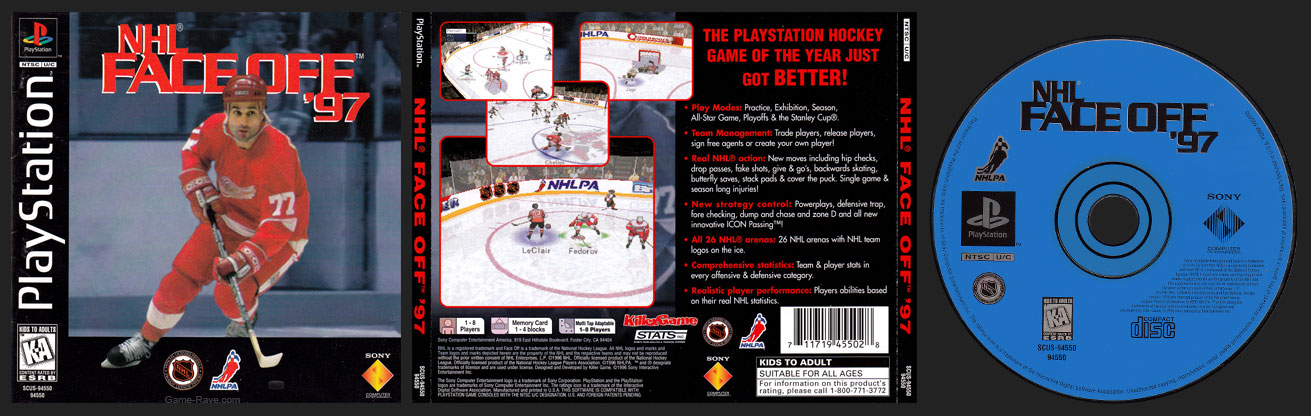 PSX PlayStation NHL Face Off 97
