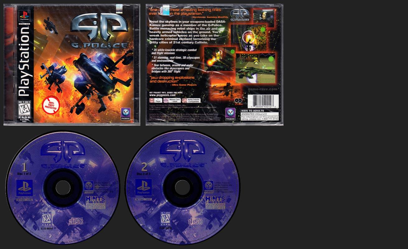 PSX PlayStation G-Police Single Jewel Case Release