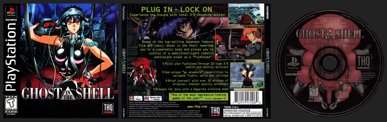 PSX PlayStation Ghost in the Shell