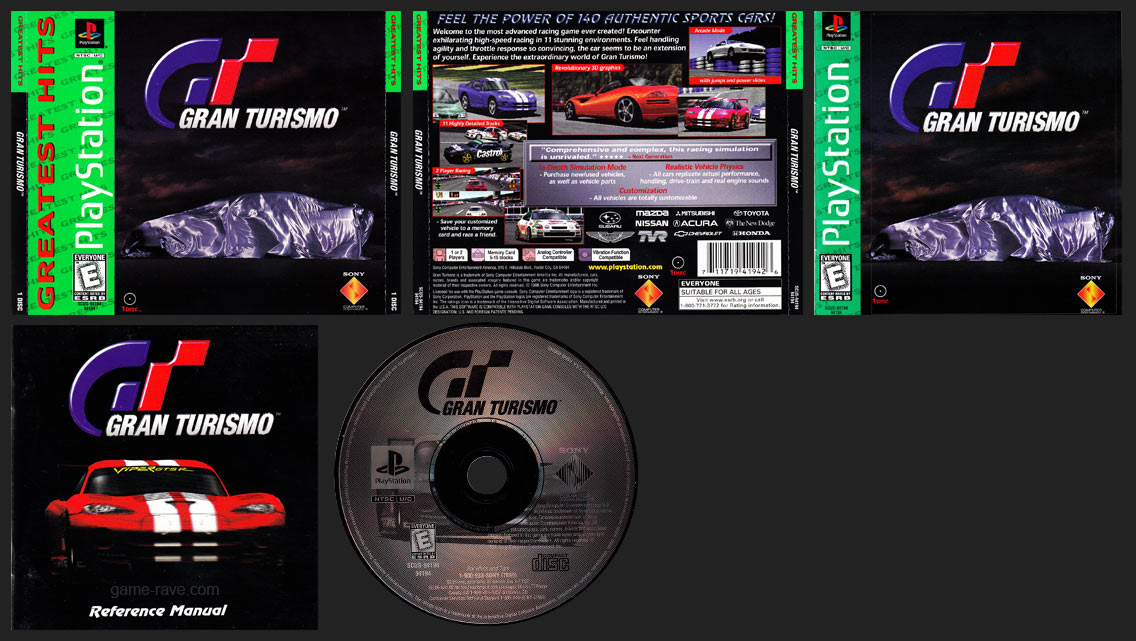 PSX PlayStation Gran Turismo Greatest Hits