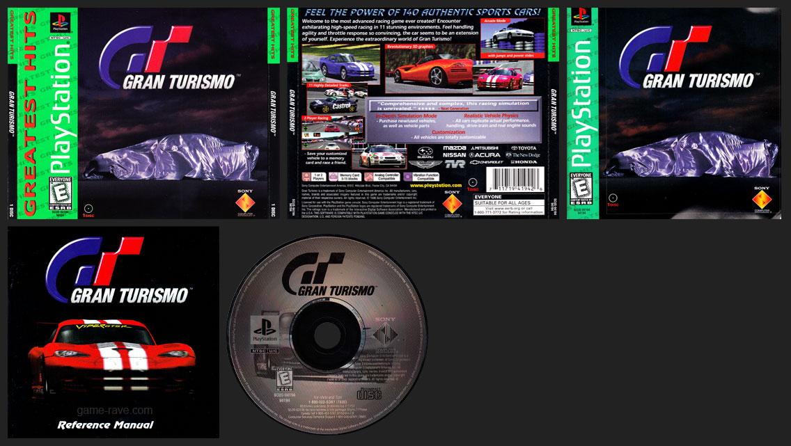 PSX PlayStation Gran Turismo Misprint