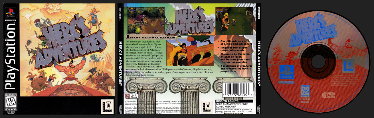 PSX PlayStation Herc's Adventures Black Label Retail Release