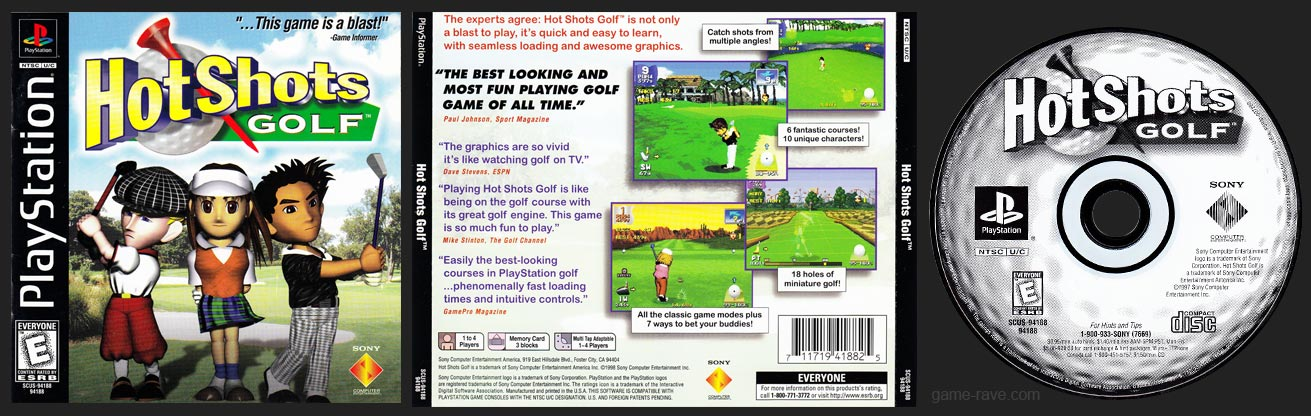PSX PlayStation Hot Shots Golf Black Label Retail Release