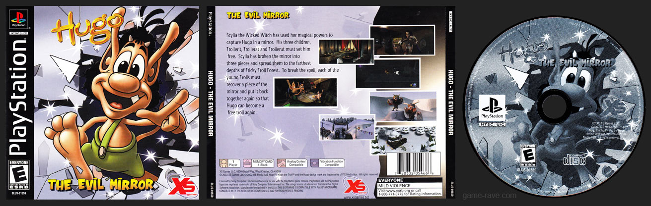 PSX PlayStation Hugo - The Evil Mirror