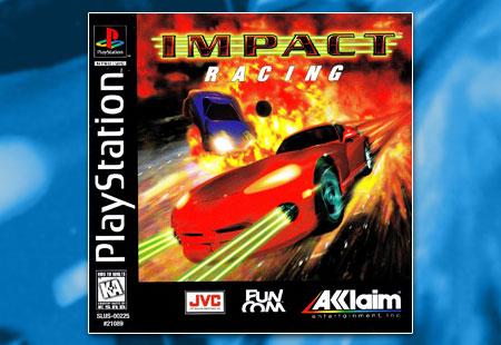 PSX PlayStation Impact Racing