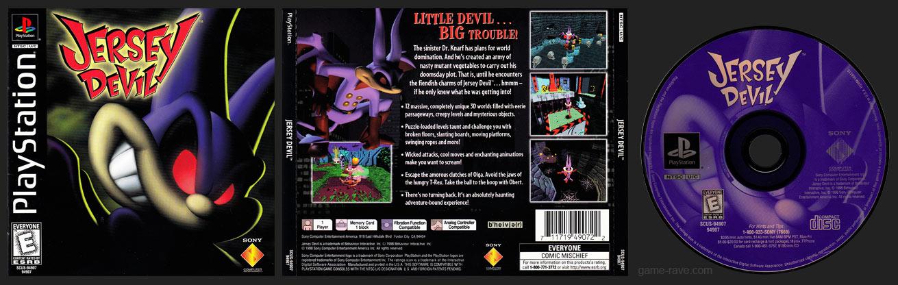 PSX PlayStation Jersey Devil