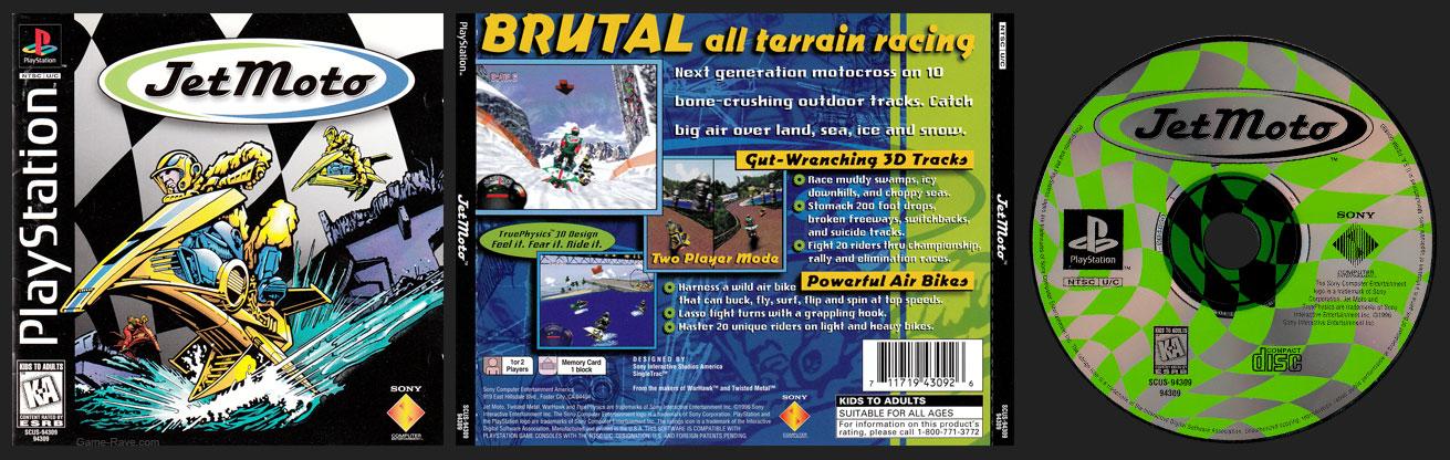 PSX PlayStation Jet Moto Black Label Retail Release