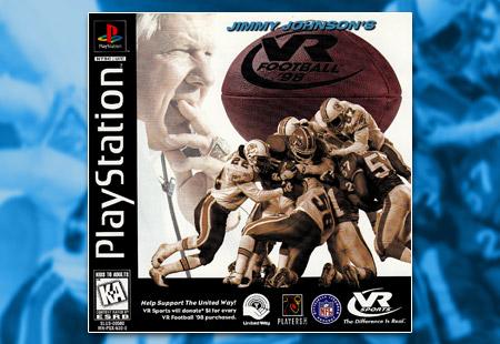 PSX PlayStation Jimmy Johnson's VR Football '98