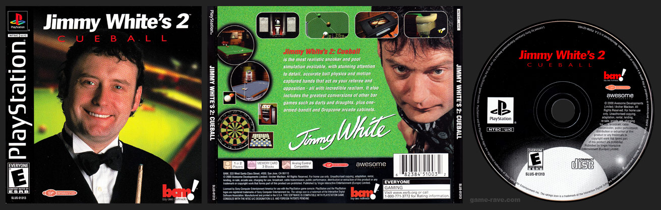 PSX PlayStation Jimmy White's 2: Cueball