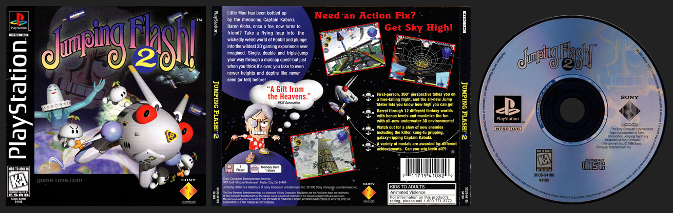 PSX PlayStation Jumping Flash 2 Retail Release
