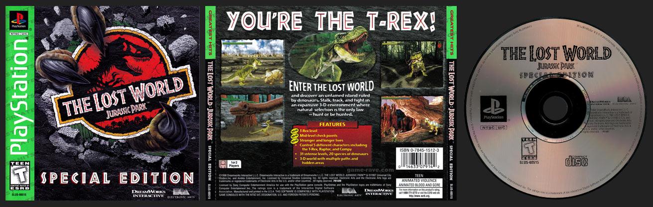 PSX PlayStation The Lost World: Jurassic Park