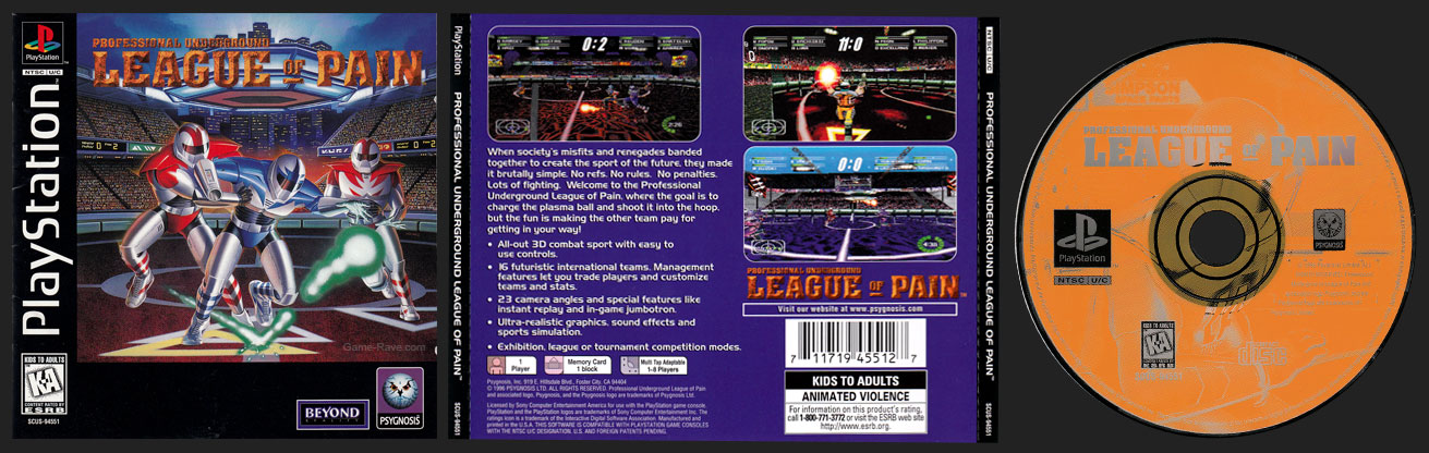PSX PlayStation Professional Underground League of Pain