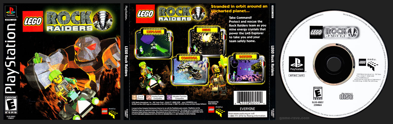 PSX PlayStation Lego Rock Raiders