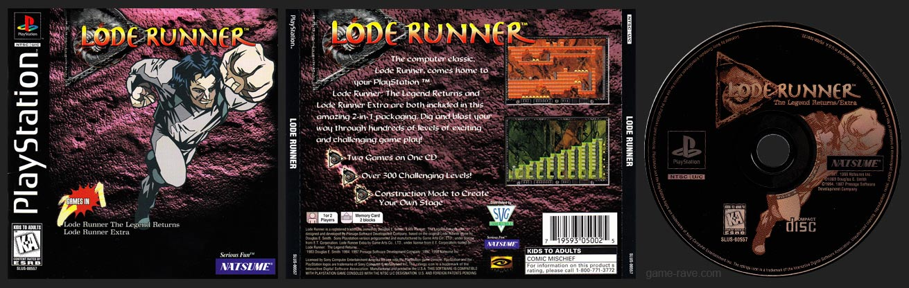 PSX Lode Runner Retail Release