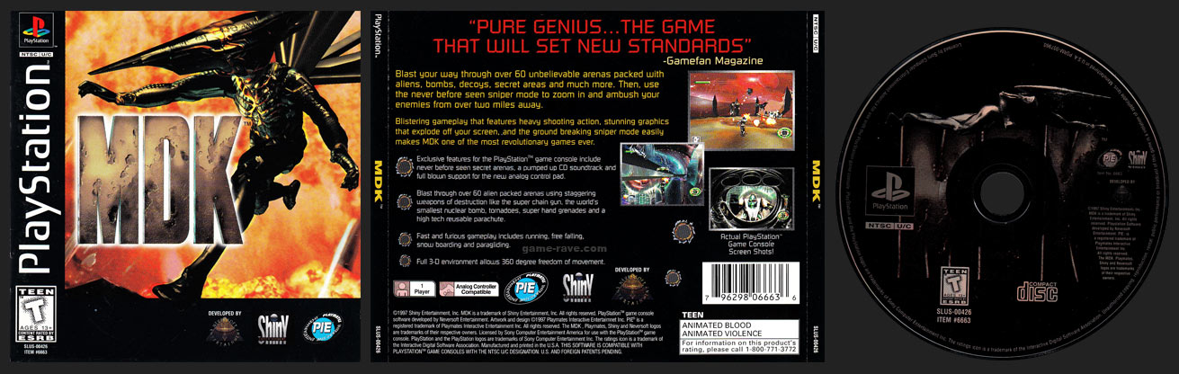 PSX PlayStation MDK Black Label Retail Release