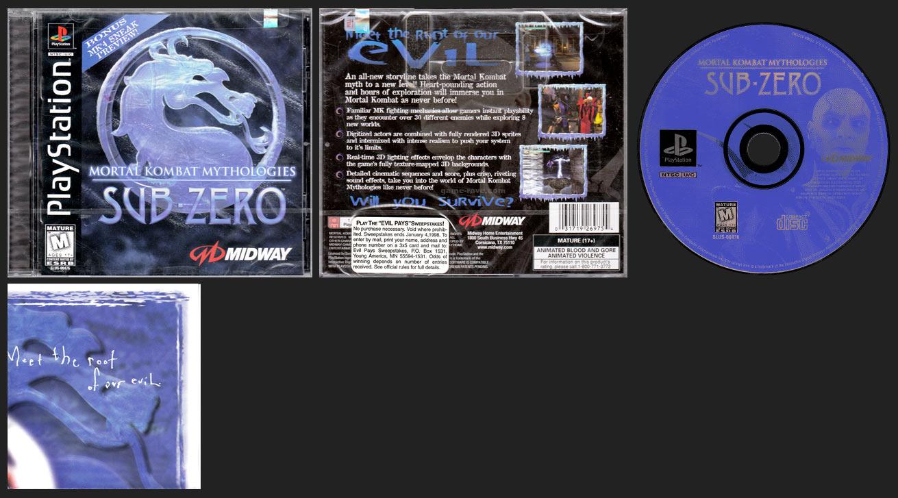 PSX PlayStation Mortal Kombat Mythologies / Sub-Zero