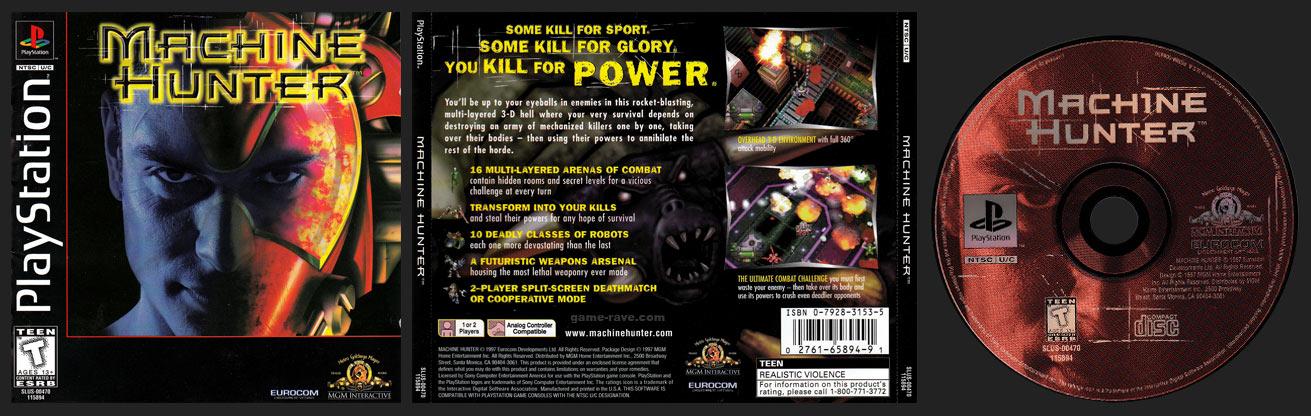 PSX PlayStation Machine Hunter Black Label Retail Release