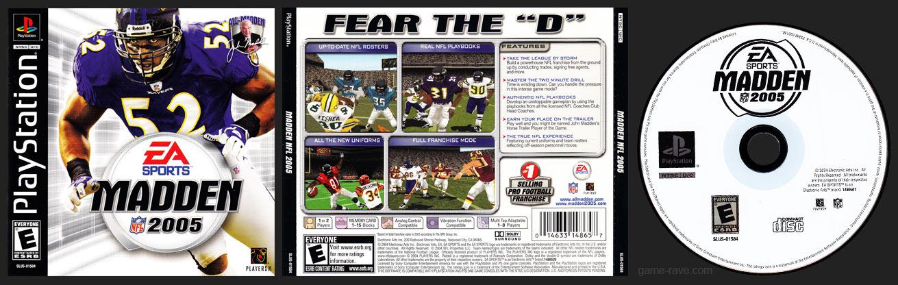 PSX PlayStation Madden NFL 2005