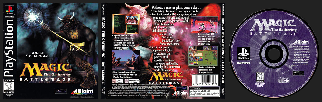 PSX PlayStation Magic: The Gathering – Battlemage