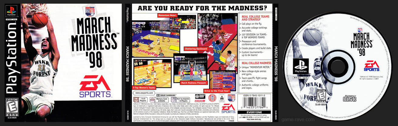 PSX PlayStation NCAA March Madness '98