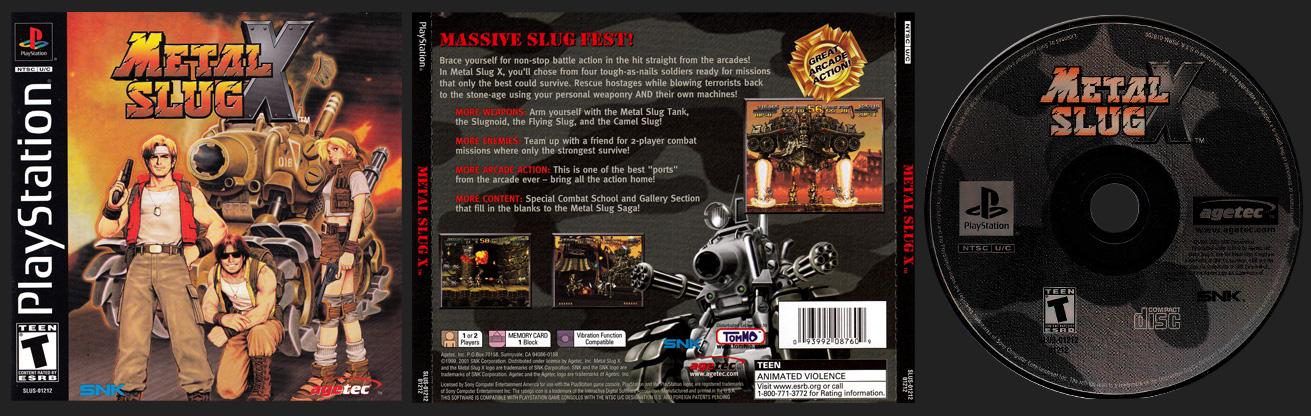 PSX PlayStation Metal Slug X