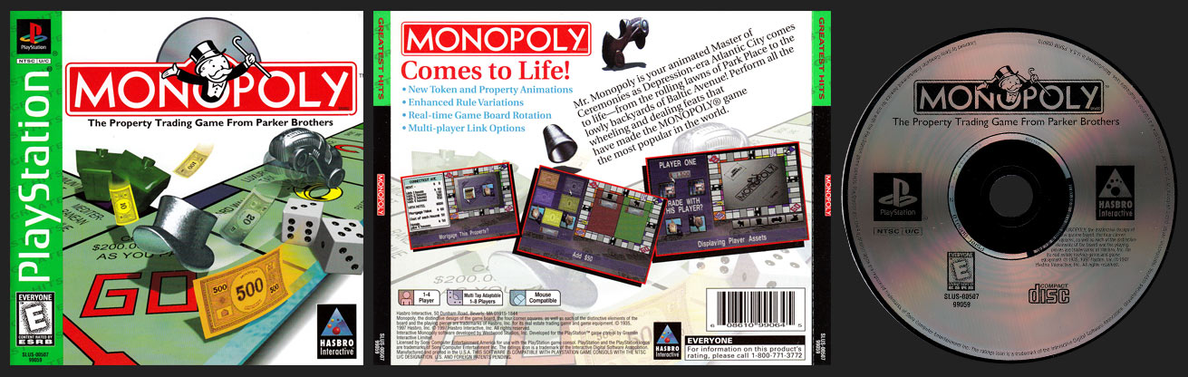 PSX PlayStation Monopoly Greatest HIts