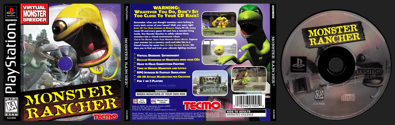 PSX PlayStation Monster Rancher