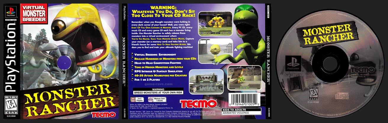 PSX PlayStation Monster Rancher Black Label Retail Release