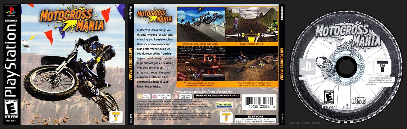 PSX PlayStation Motocross Mania No Hub Black Label Retail Release