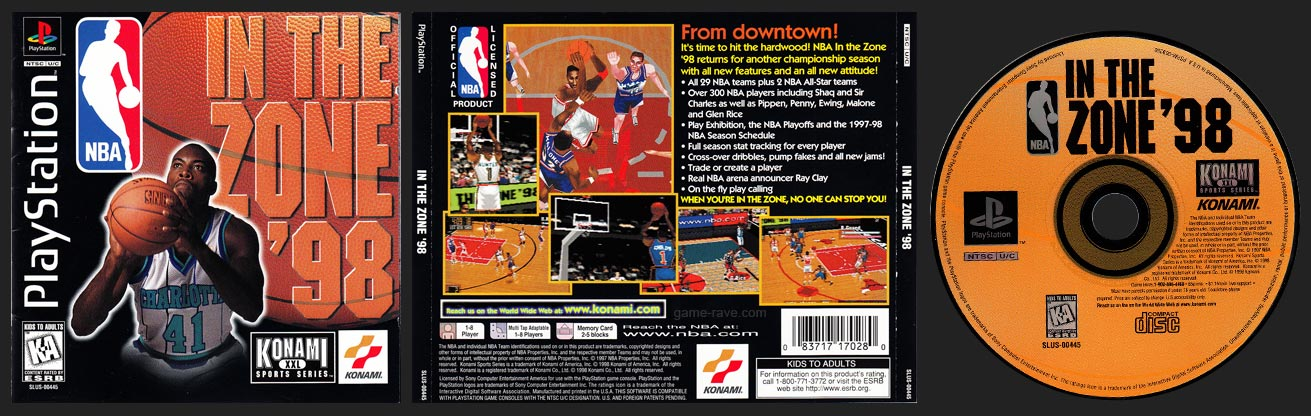 PSX PlayStation NBA In the Zone '98