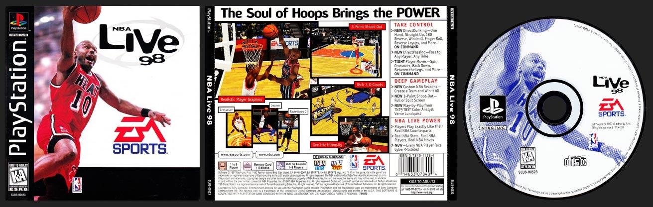 PSX PlayStation NBA Live 98