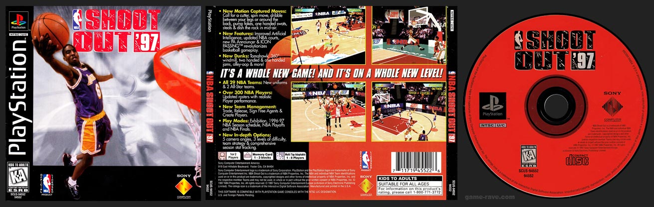 PSX PlayStation NBA Shoot Out 97 1 Ring Hub Variant Release
