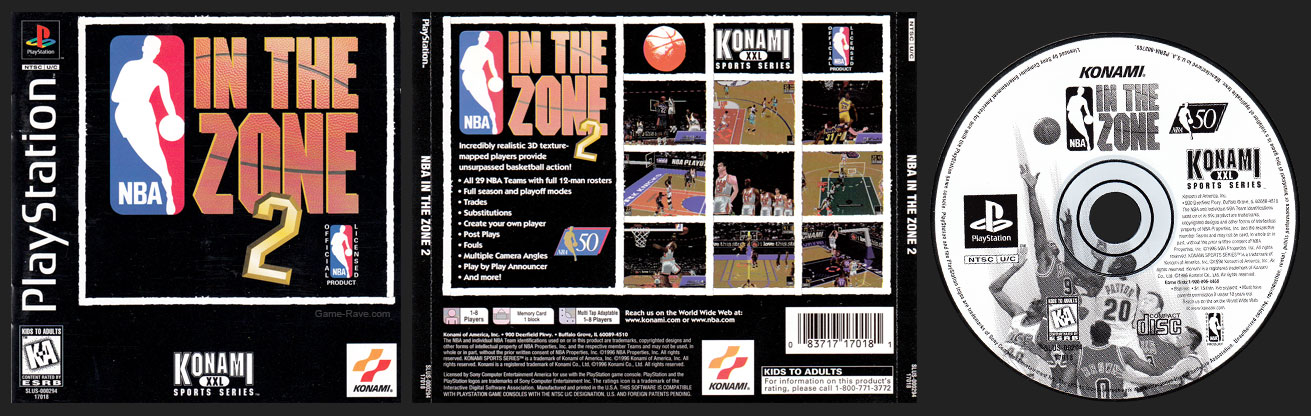 PSX PlayStation NBA In The Zone 2