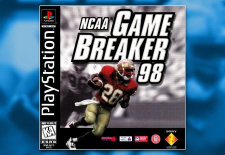 PSX PlayStation NCAA Game Breaker 98
