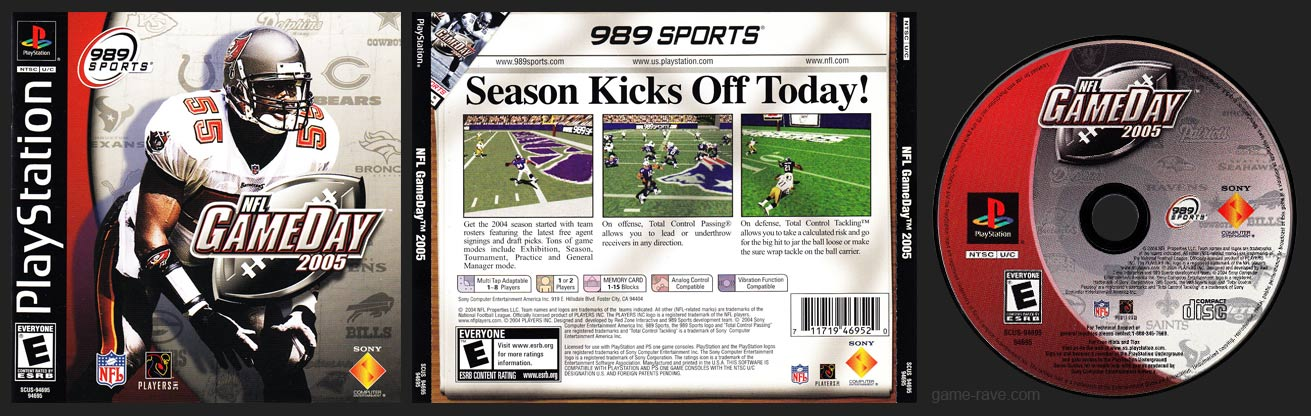 PSX PlayStation NFL GameDay 2005 Black Label Retail Release