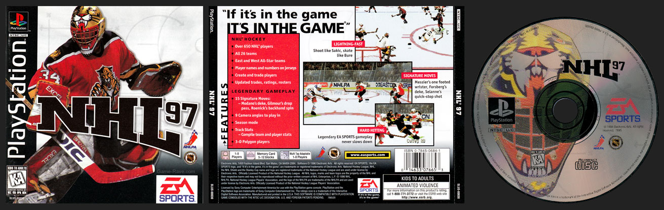 PSX PlayStation NHL 97 Retail Release