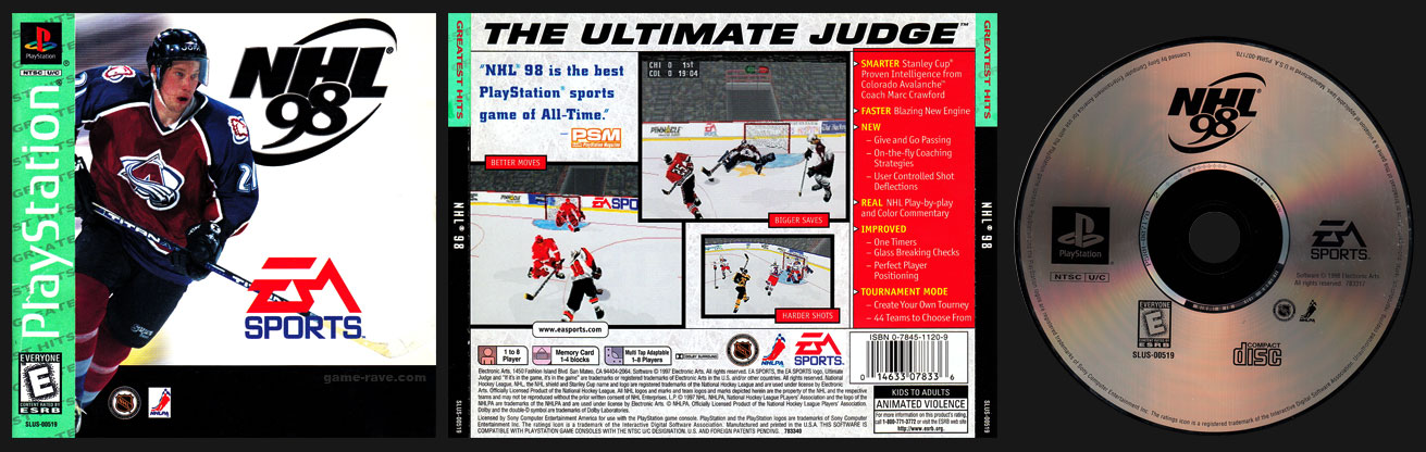 PSX PlayStation NHL 98 Greatest Hits