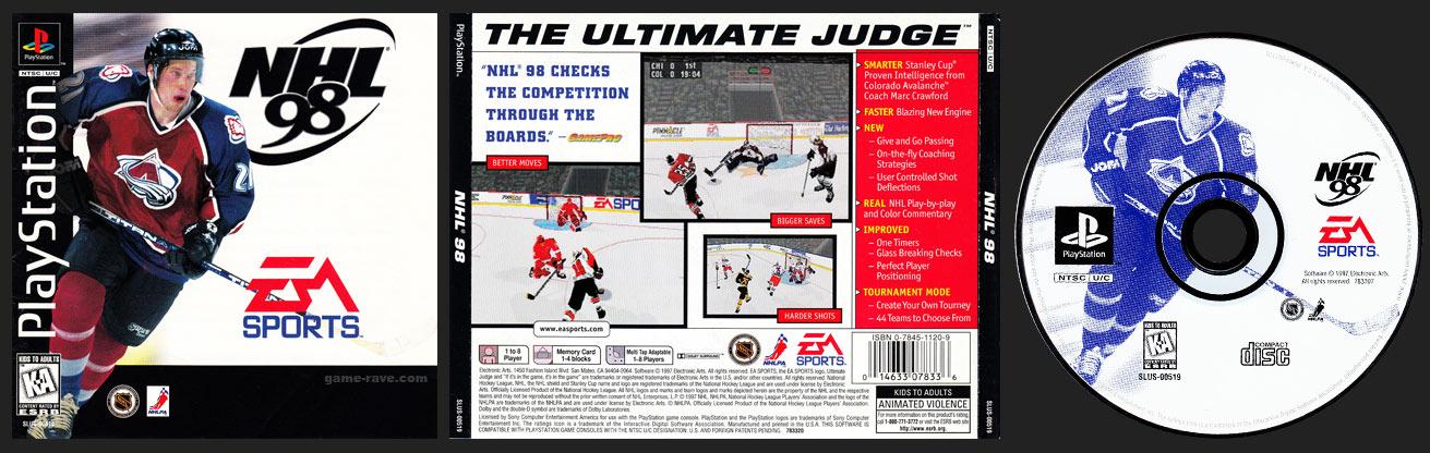 PSX PlayStation NHL 98 Black Label Retail Release