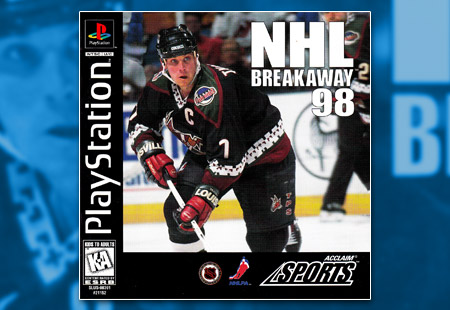 PSX PlayStation NHL Breakaway 98