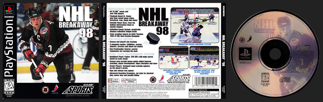 PSX PlayStation NHL Breakaway 98 Black Label Retail Release