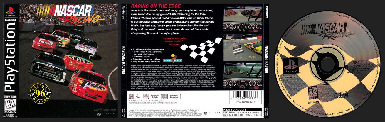 PSX PlayStation NASCAR Racing