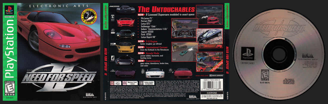 PSX PlayStation Need For Speed II
