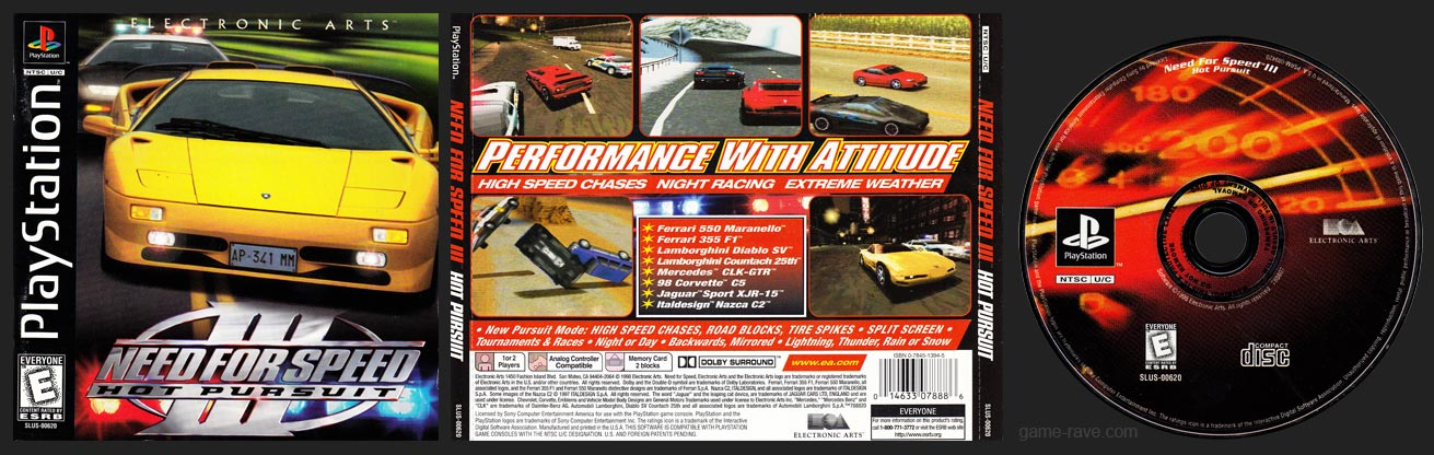 PSX PlayStation Need For Speed III: Hot Pursuit Black Label Retail Release