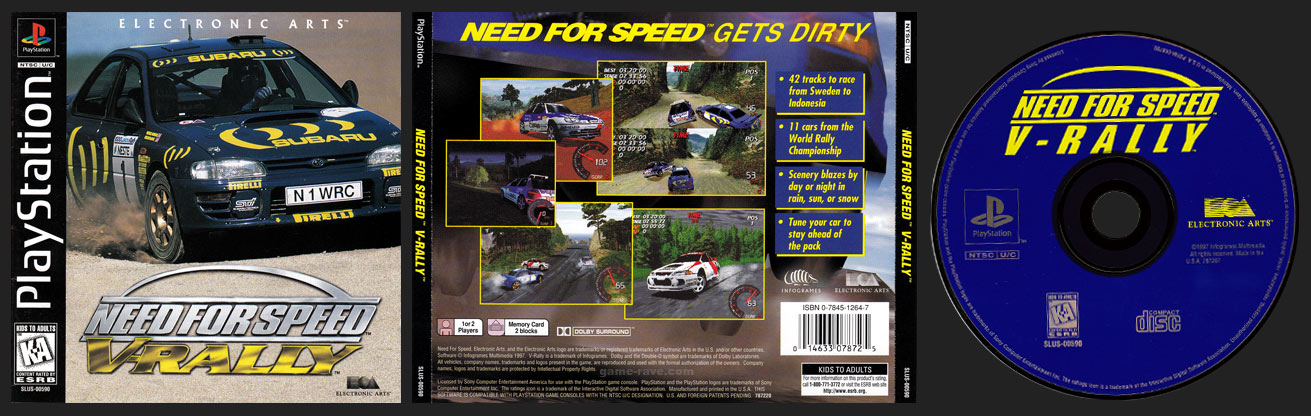 PSX PlayStation Need for Speed: V-Rally