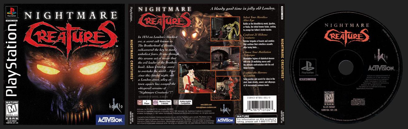 PSX PlayStation Nightmare Creatures