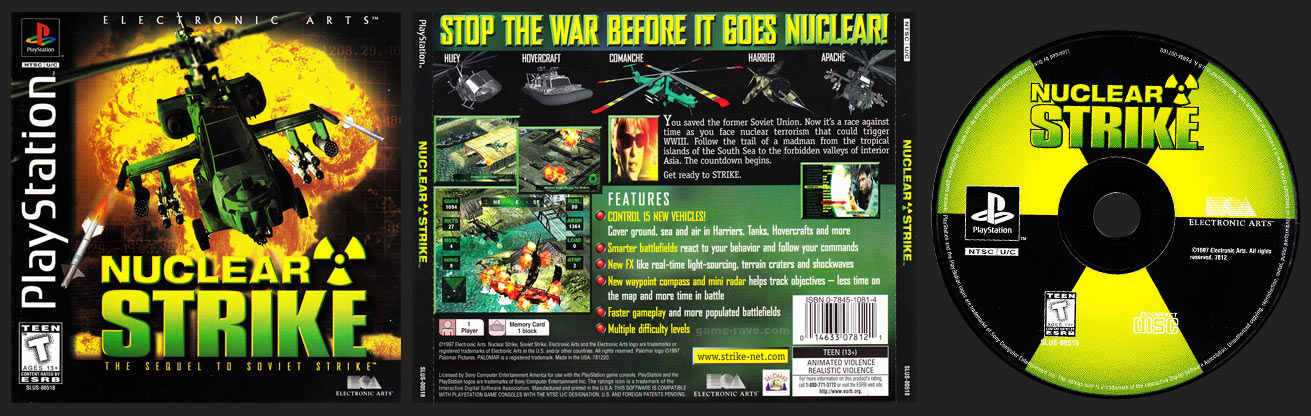 PSX PlayStation Nuclear Strike Black Label Retail Release
